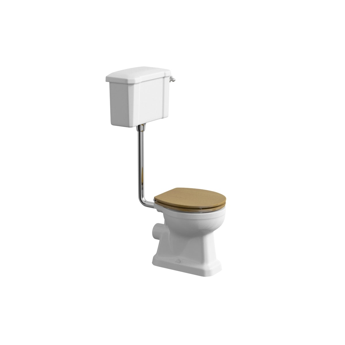 The Bath Co Camberley Low Level Toilet With Wooden Soft Close - Oak toilet seat soft close