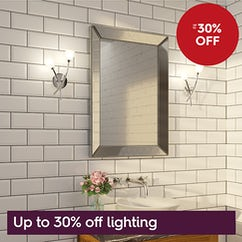 Up to 30% off lighting