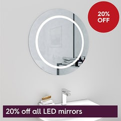 20% off LED mirrors