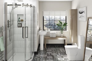 Feature bathroom tiles