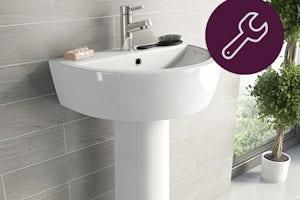 How to fit a pedestal basin (was Installing a pedestal sink & Fitting wash basins)