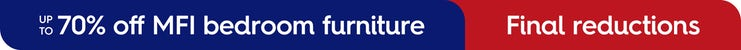 Up to 70% off MFI bedroom furniture