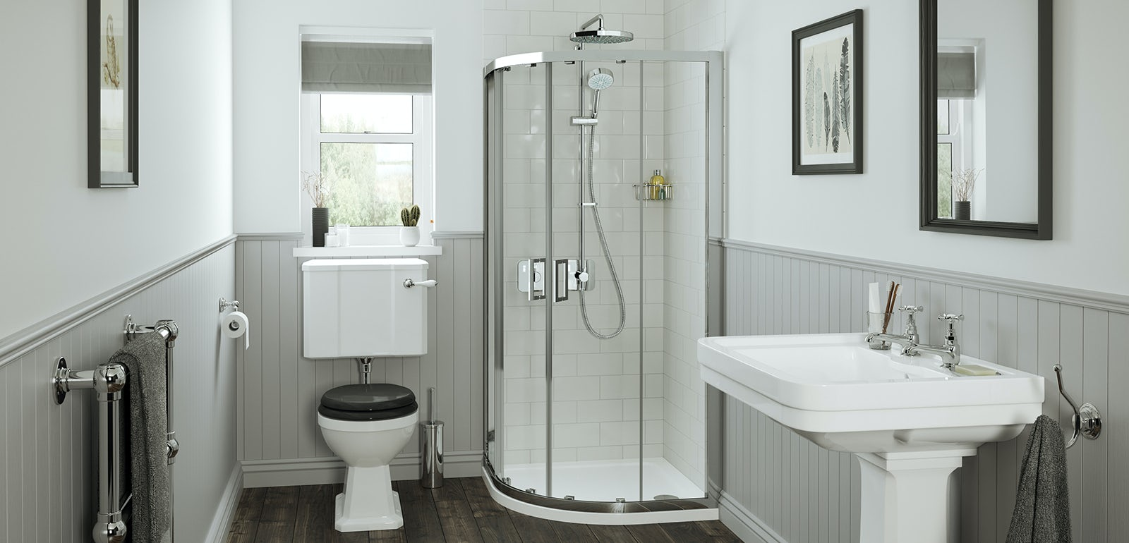 Small bathroom solutions from mira showers for Compact bathroom solutions