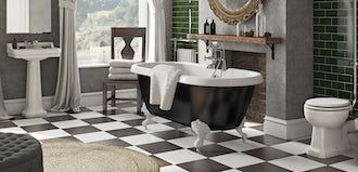 6 fun ideas for a striking bathroom floor