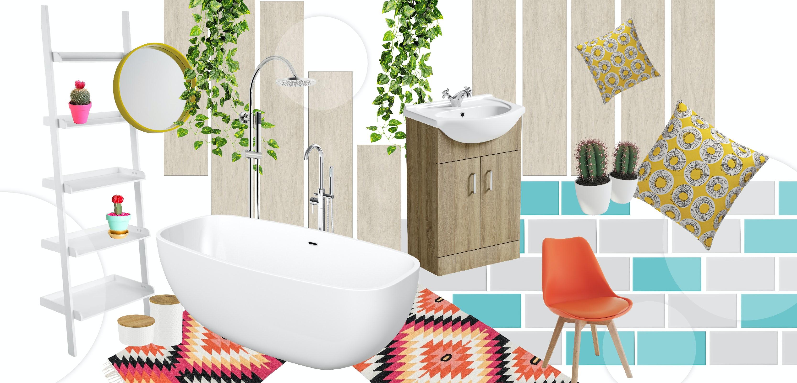 Colourful Creative bathrooms