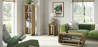 Get the retro look with modern living furniture