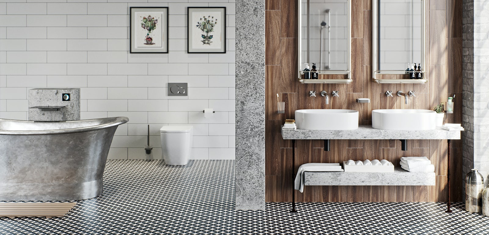 Exceptional Get The Look: Soft Industrial Bathrooms