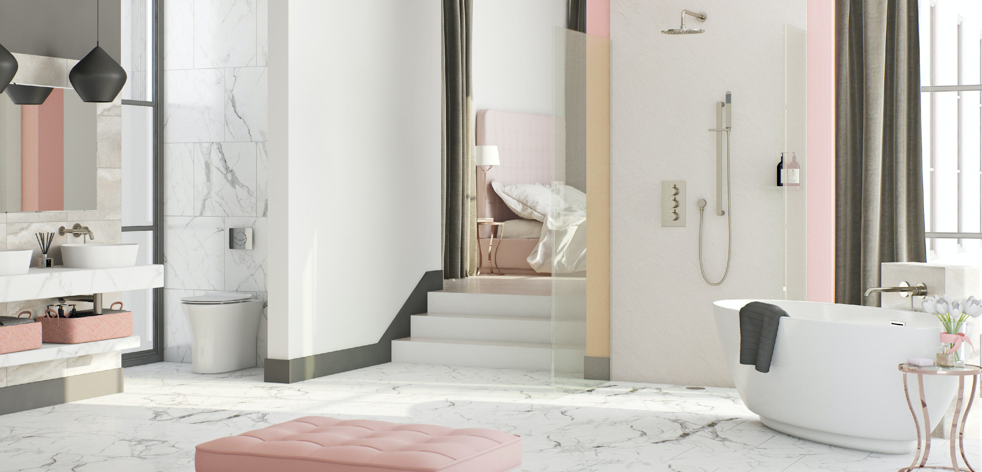 Bathroom ideas: Boutique Blush