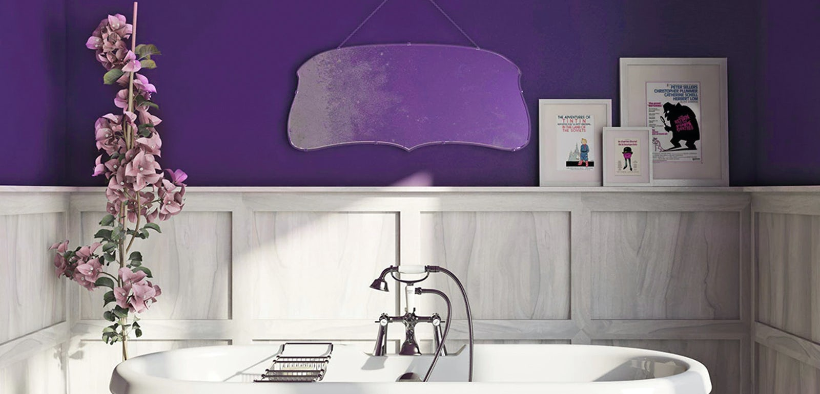 Turn your bathroom Ultra Violet: Pantone's colour of the year 2018