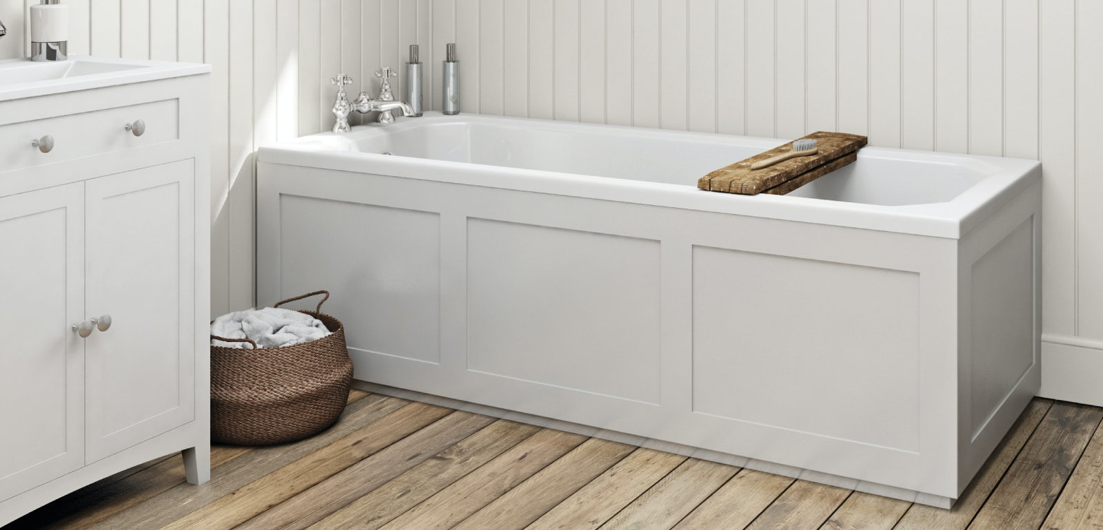 How to fit a wooden bath panel | VictoriaPlum.com