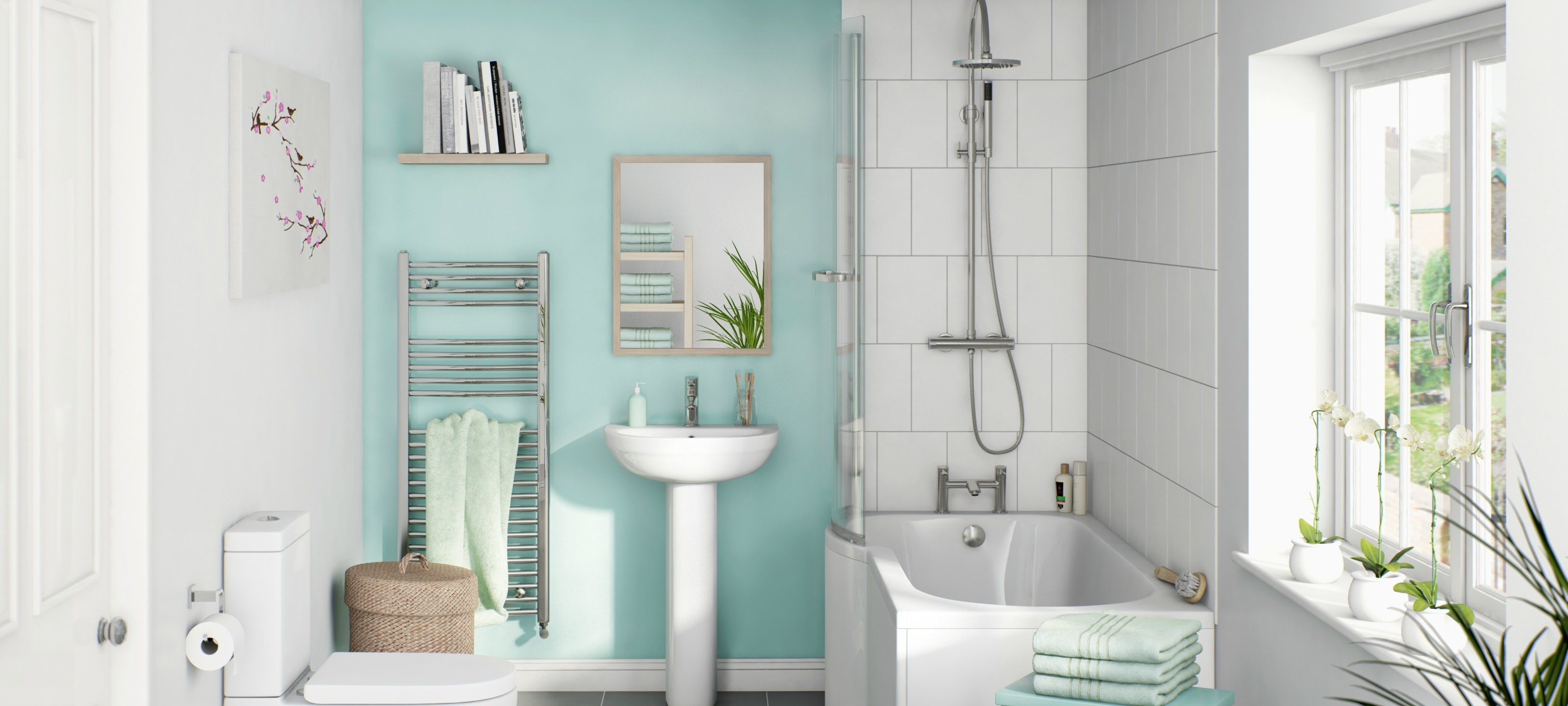 Create a big splash in the bathroom on a budget