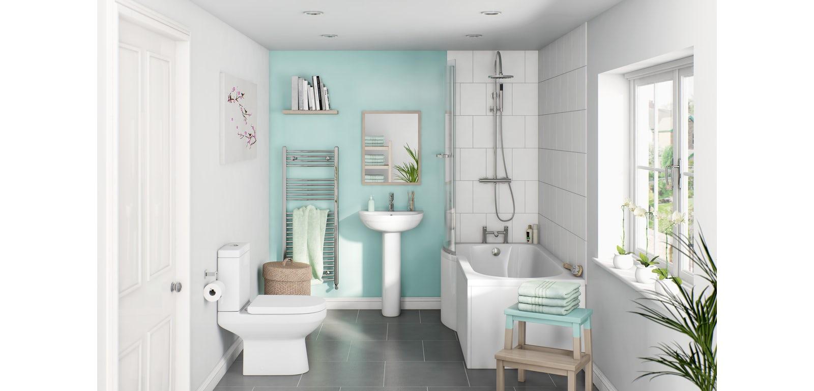Tecaz bathroom suites - Awesome Family Bathroom Suites Guide With P Shape Bathroom Suite