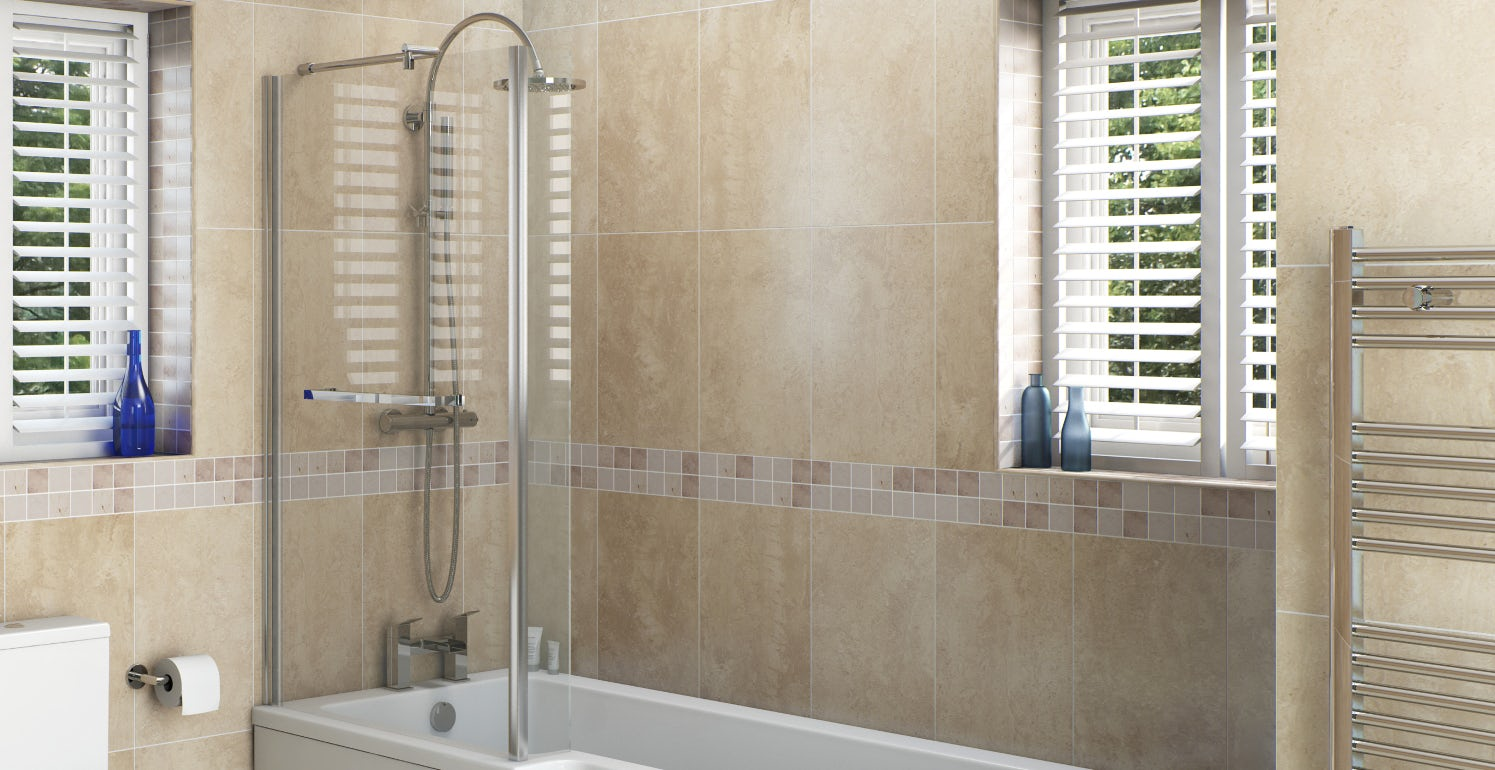 How to fit bathroom tiles - How To Fit A Bath Screen