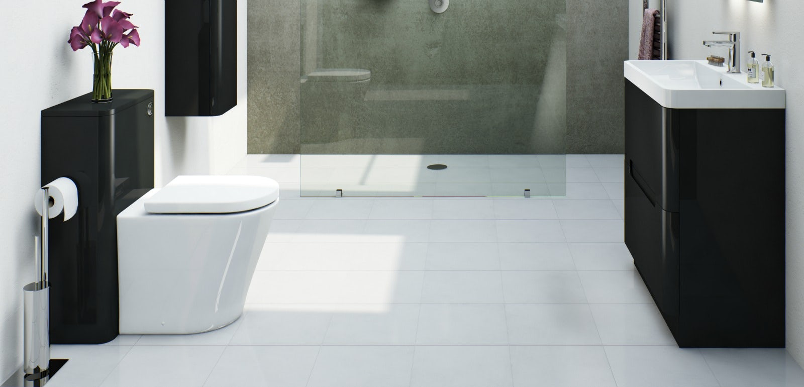 8 reasons why a monochrome bathrooms work | VictoriaPlum.com