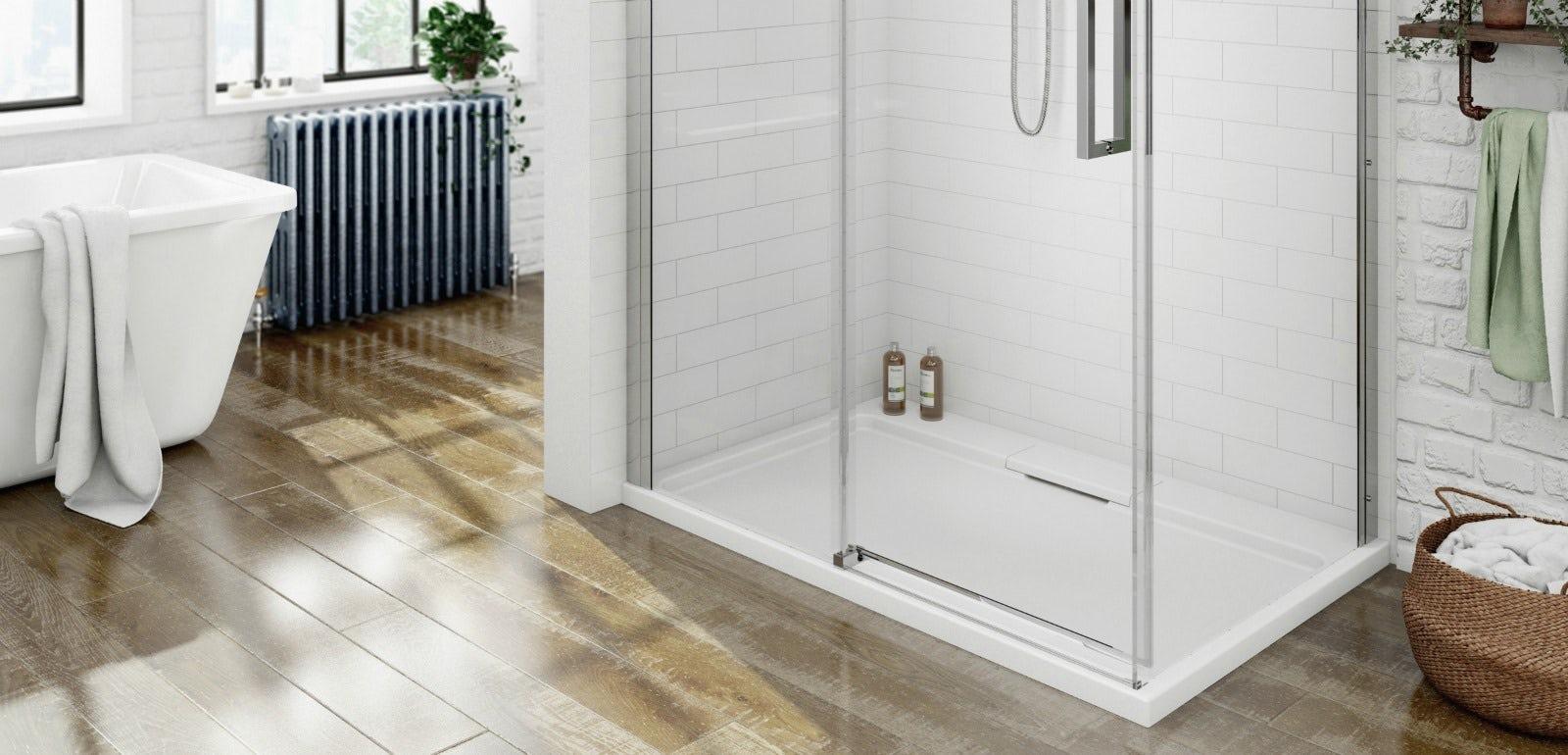 L Shaped Shower Tray Part - 48: Victoria Plum