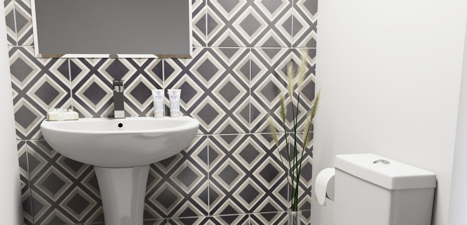 Small cloakroom bathroom ideas | VictoriaPlum.com