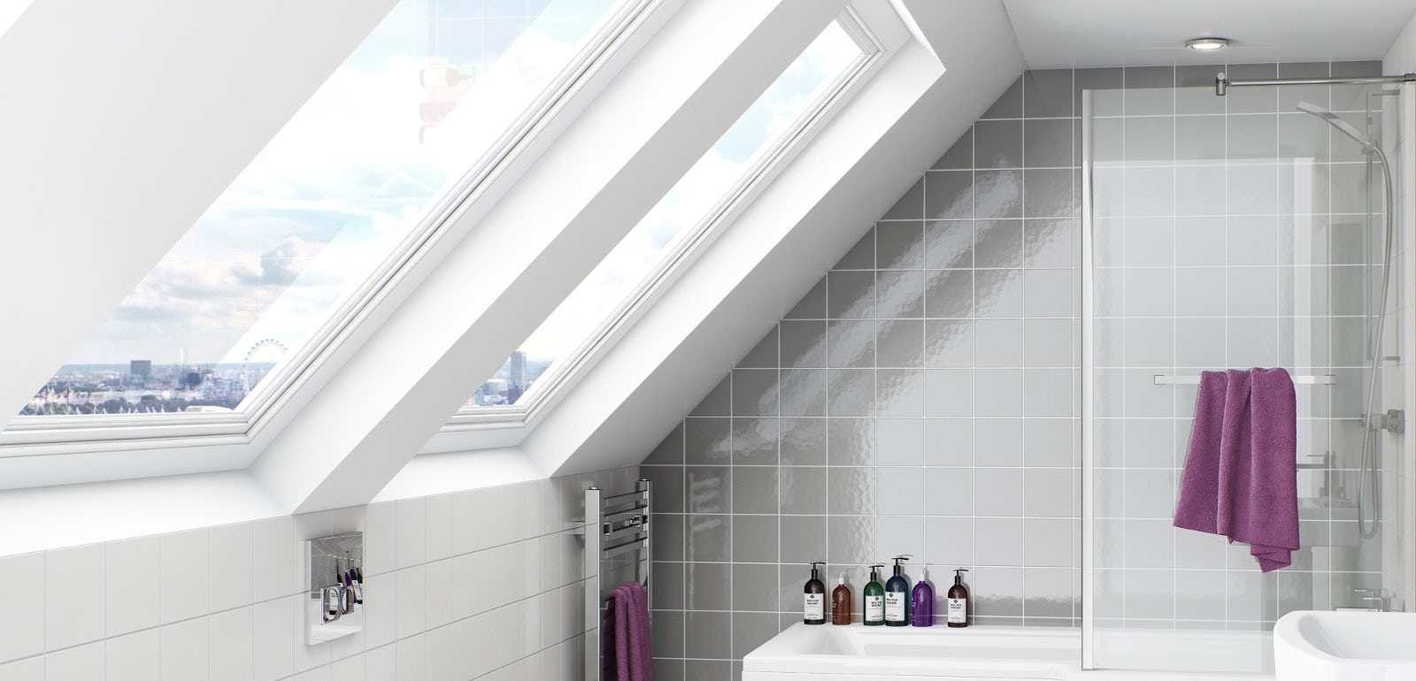 The Boston Square Shower Bath - a real space saving solution