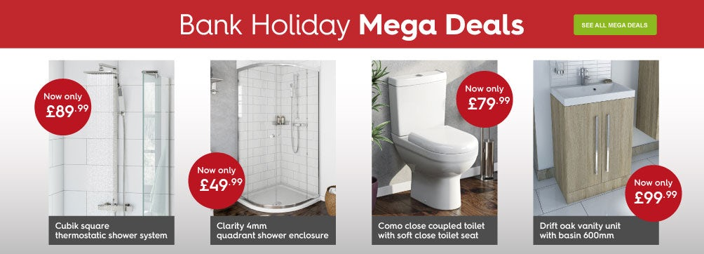Bank holiday mega deals