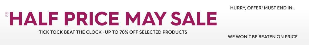 Up to Half Price May Sale