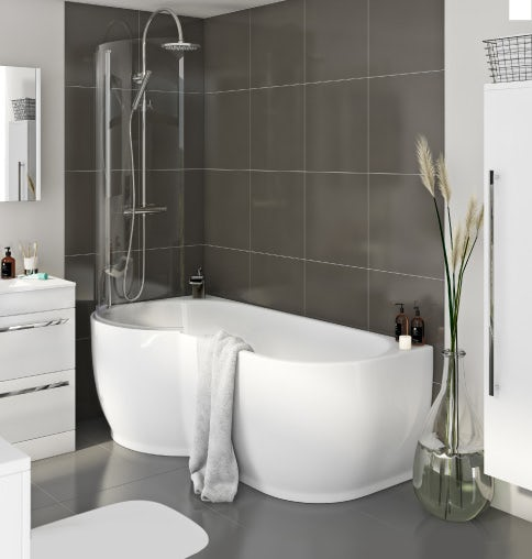 Save up to £250 on shower baths
