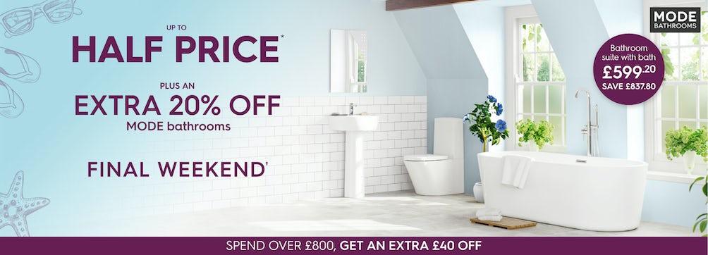 Extra 20% off Mode Bathrooms