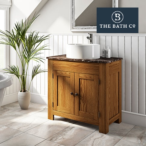 Chester oak bathroom furniture