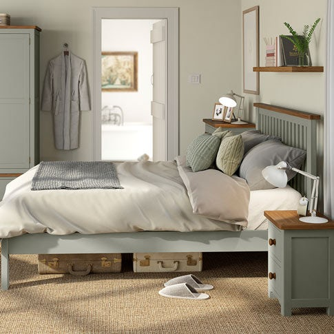 Rome Oak and Mellow Sage Bedroom Furniture