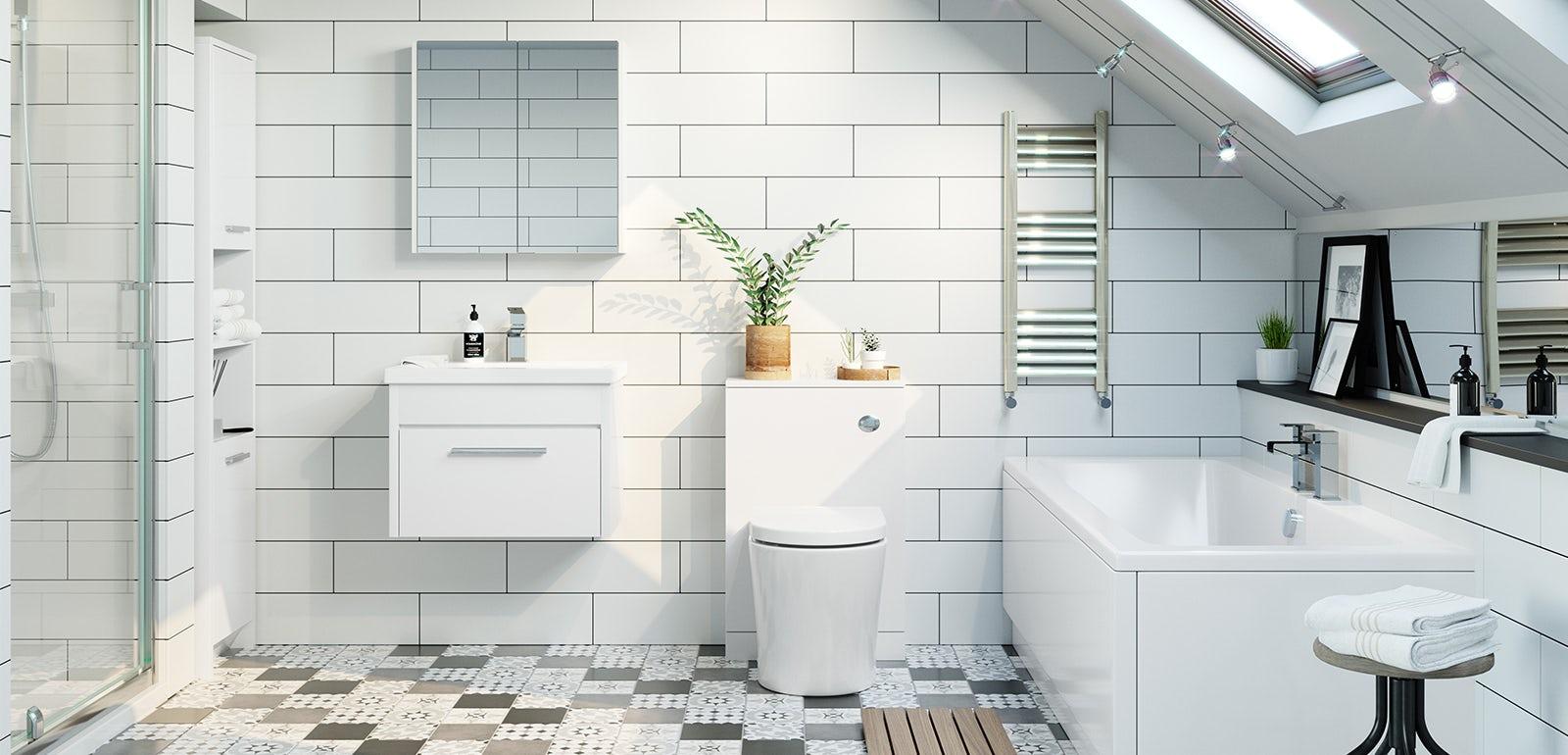 Smart White Bathroom Furniture