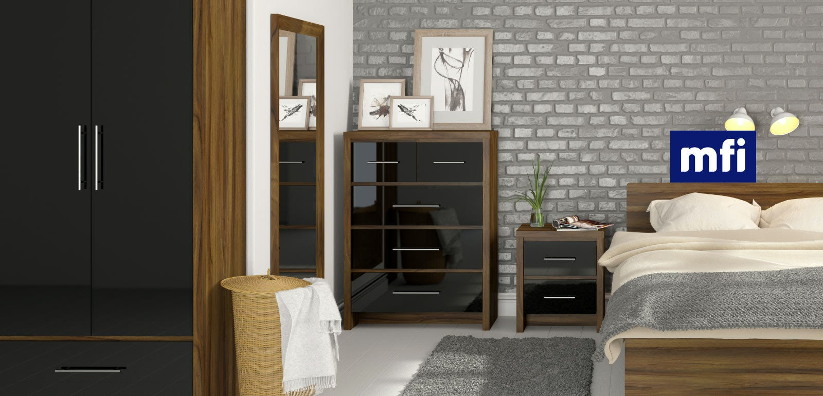 Contemporary Bedroom Set London Black By Acme Furniture: Walnut Bedroom Furniture