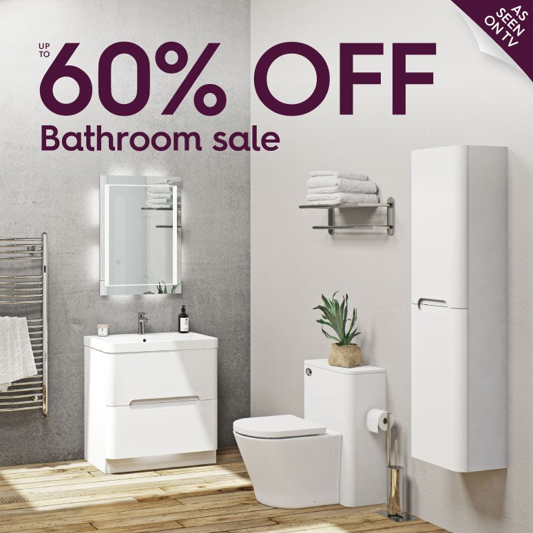 Up to 60% off bathroom sale