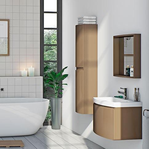 Curvaceous Latte Bathroom Furniture