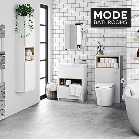 Tate white bathroom furniture