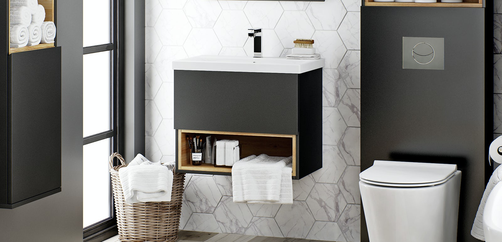 driftwood vanity unit