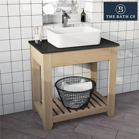 Hoxton oak bathroom furniture