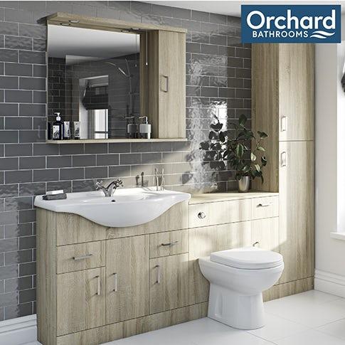 Eden oak bathroom furniture
