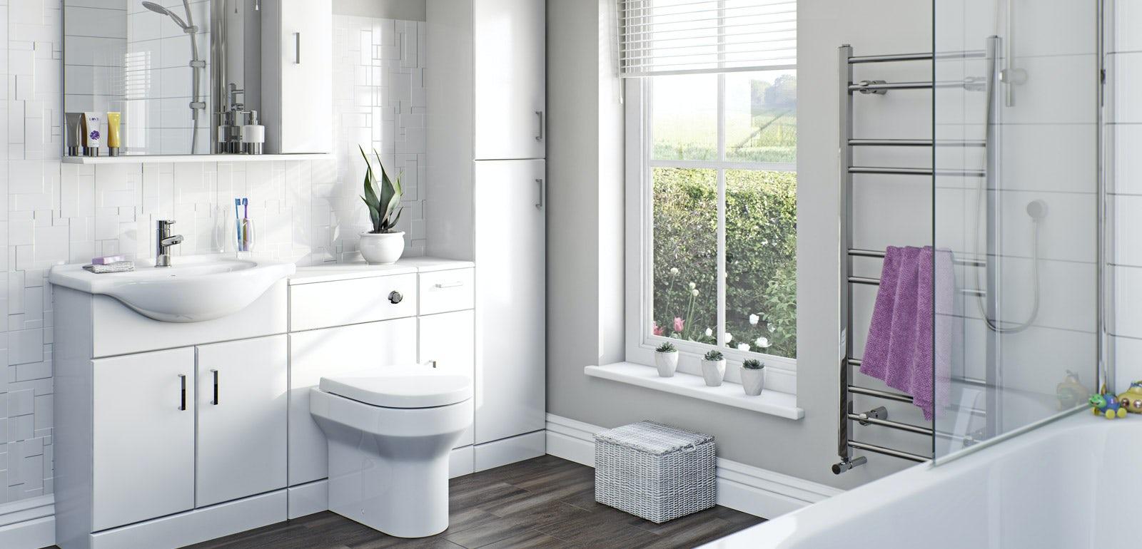 White gloss bathroom furniture - Sienna White Bathroom Furniture
