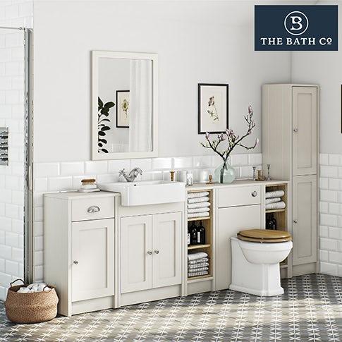 Winchester ivory bathroom furniture