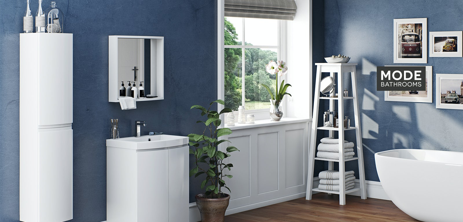 Curvaceous Snow Bathroom Furniture