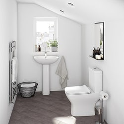 Compact square bathroom suite range