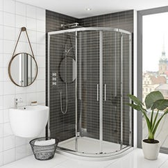 offset quadrant shower enclosure
