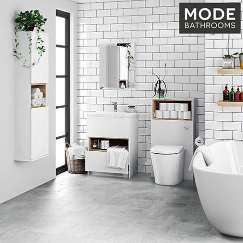 Tate white bathroom furniture