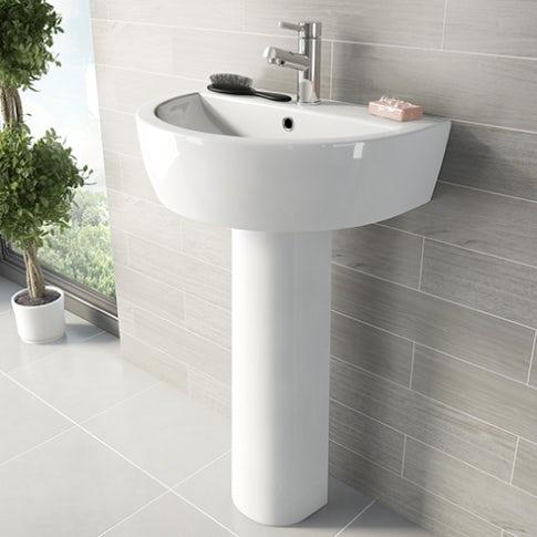 arc pedestal basin