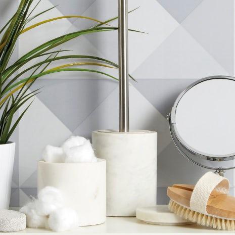 White marble accessory range