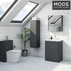 Purity pebble grey bathroom furniture