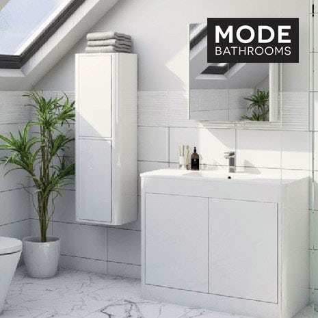 Purity ice white bathroom furniture