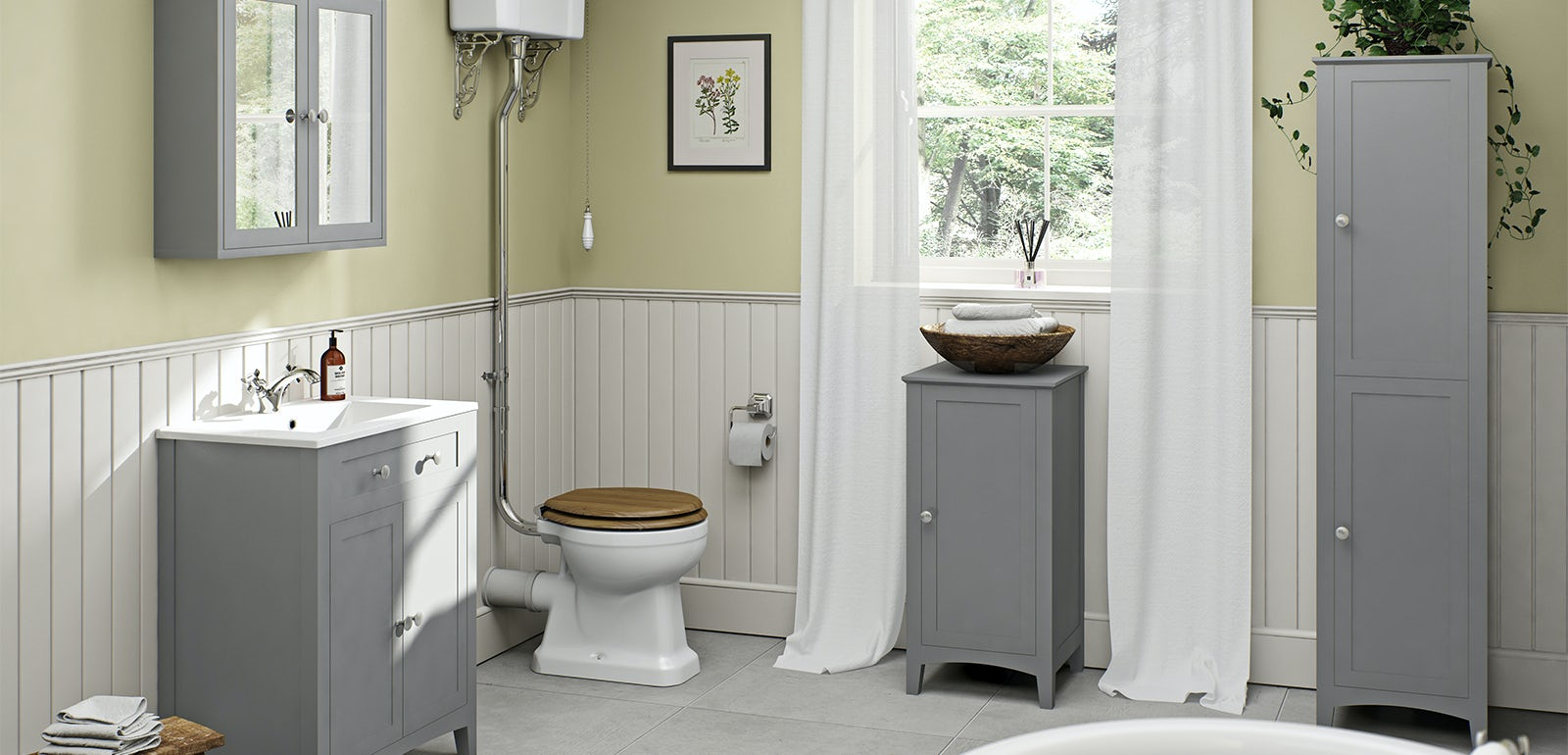 Camberley Grey Bathroom Furniture
