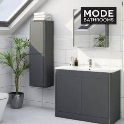 Purity pebble grey bathroom furniture