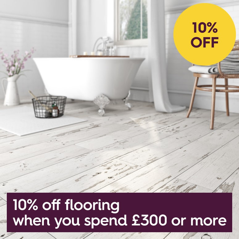 Save 10% on flooring when you spend £300 or more