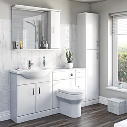 Sienna white bathroom furniture