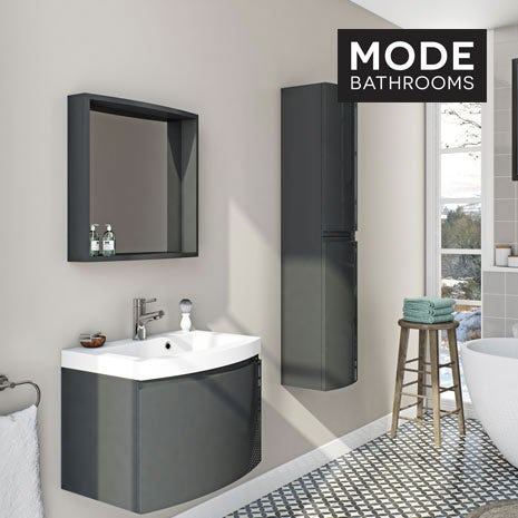 Curvaceous Slate Bathroom Furniture
